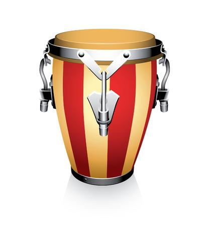bongo drum: conga on a white background Illustration