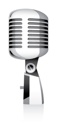microphone metal on a white background Illustration