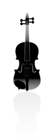 violin on a white background Illustration
