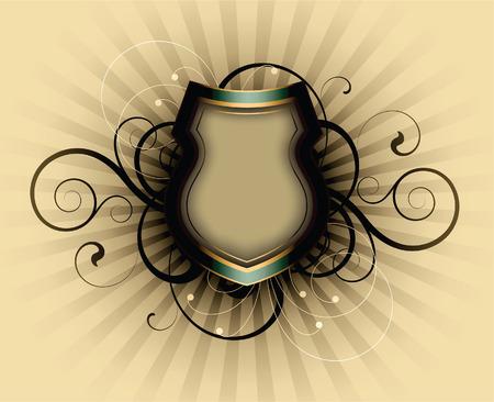 absract: absract retr� con elementi decorativi