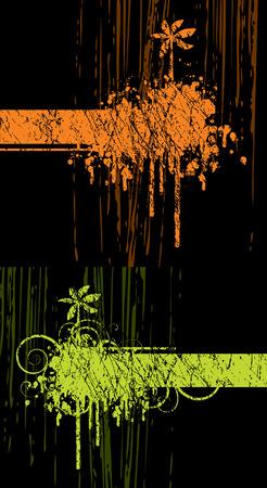 abstract with palm tree on a black background Ilustração