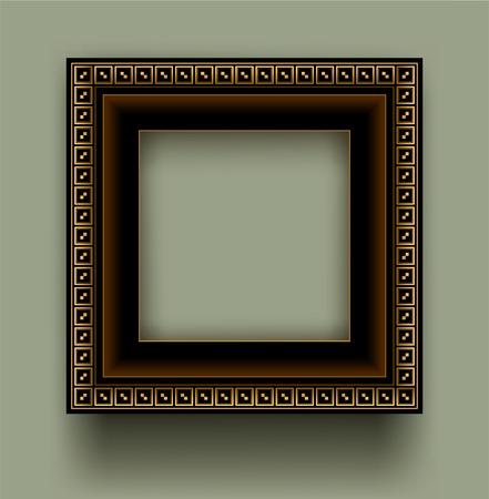 Retro frame with decorative ornament
