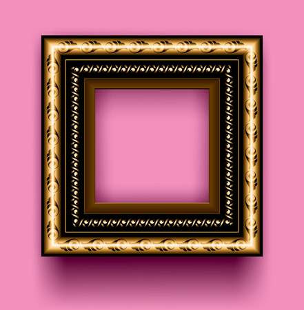 gilding: Frame on a pink background