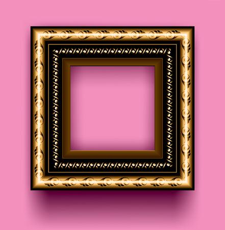 Frame on a pink background