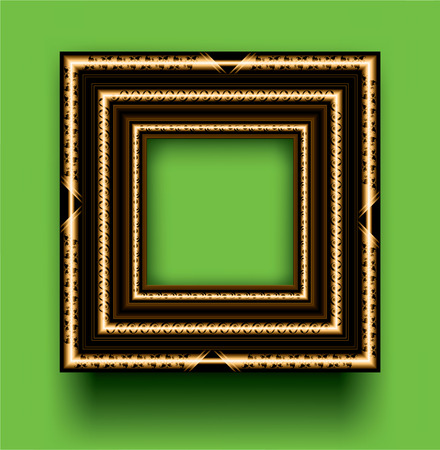 Frame on a green background
