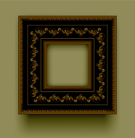 Retro frame on a green background