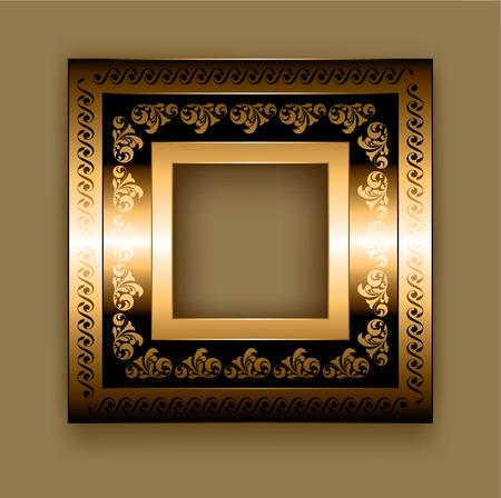 Frame on a brown background Illustration
