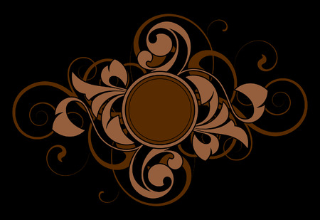 Floral abstract with decorative elements