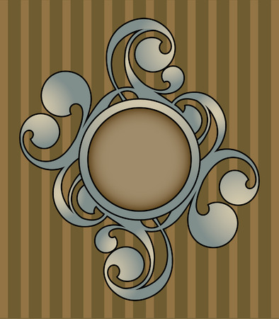 Retro abstract with decorative elements
