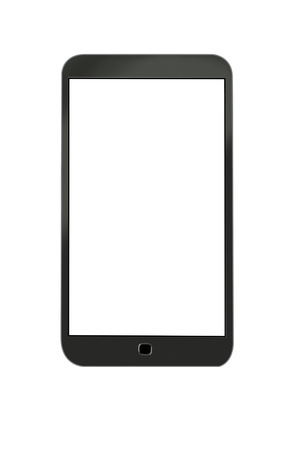 Smart phone, isolated on white photo