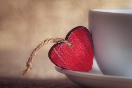 バレンタインの日にコーヒー カップ