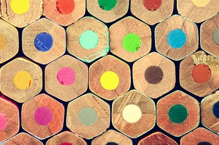 colored pencil: Color pencils background Stock Photo