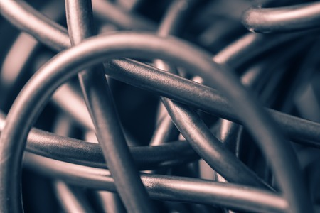 cable tangle: Tangled wires, abstract background