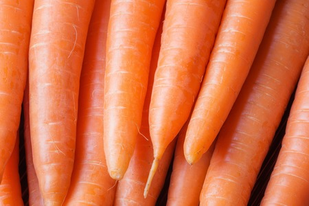 Close up of fresh carrots