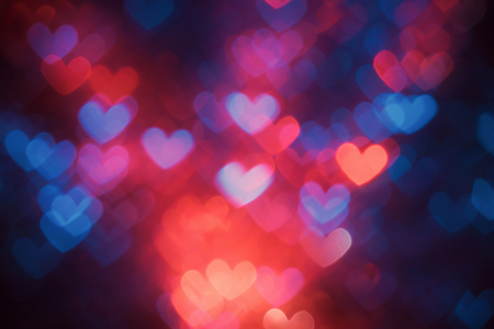 Heart shaped abstract background on Valentines day