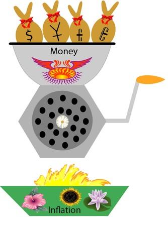 Money  chopper Stock Vector - 22615761