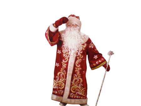 'ded moroz': Ded Moroz   on a white background Stock Photo