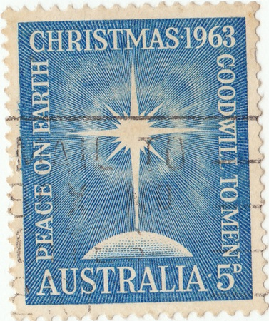 postage: Australian postage stamp Christmas (1963)