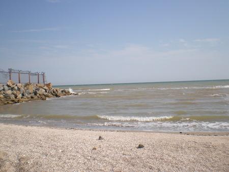 azov sea: Waves on the Azov sea. View from the shore