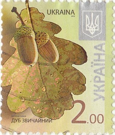 postage: Ukrainian  postage stamp Common oak