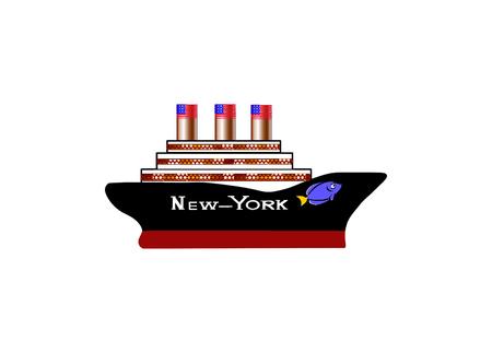 American  passenger cruise  ship New-York.