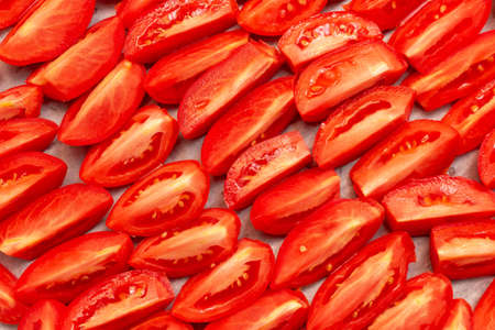 Homemade Dried Red Tomatoes Slices With Basil Oregano Spices Stock Photo Picture And Royalty Free Image 157261321