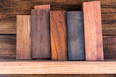 bars blocks scales of valuable exotic tree wood ironwood, cocobolo, kingwood, blackwood  for handmade DIY knife handles materials supply