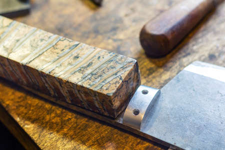Making knife handle rivet with pins, knifemaking.