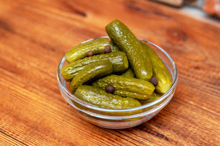 Picles marinated salted cucumbers