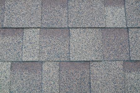 Soft roof, roof tiles, flexible shingles. Roof tiling texture. Flexible, soft bituminous composite Stock Photo