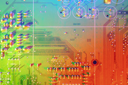 Electronic board design, Motherboard digital chip. Tech science background. Integrated communication processor. Imagens
