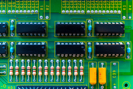 Electronic board wallpaper, Motherboard digital chip. Tech science background. Integrated communication processor.