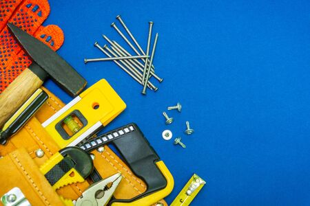 Professional tools for the joiner and spare parts Banque d'images