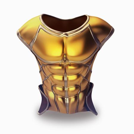 Roman armor 3D-afbeelding op een witte achtergrond Stockfoto