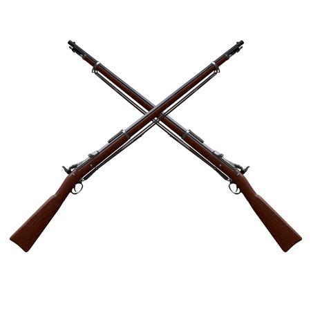 Musket Springfield Trapdoor Rifle Imagens