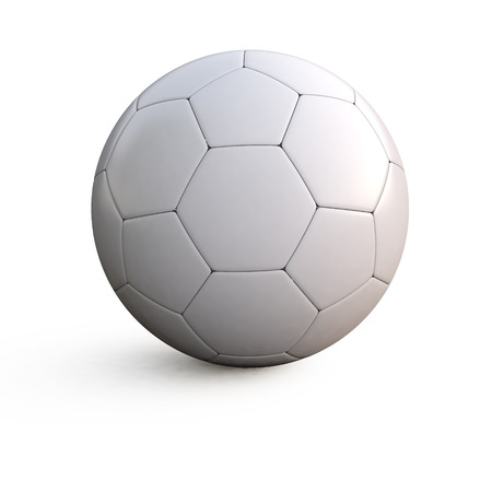 soccerball: 3d illustration of a white soccer ball on isolated background
