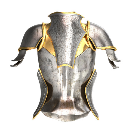 elven: woman armor 3d illustration isolated on background Stock Photo