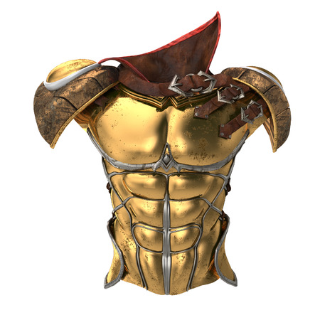 toughness: Roman armor 3d illustration isolated on background