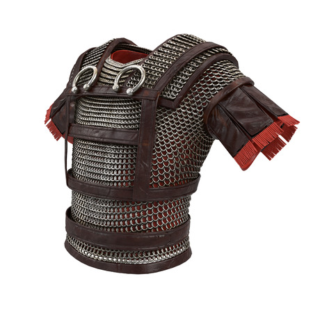 Roman armor 3d illustration isolated on background