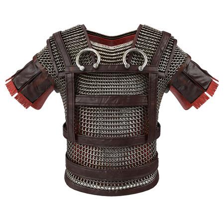 sparta: Roman armor 3d illustration isolated on background