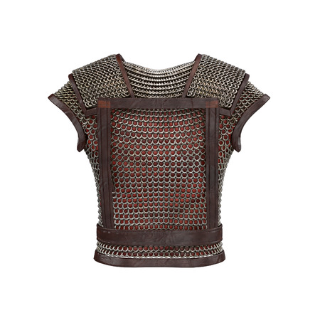 3d illustration of chain mail armor isolated background Stock Photo