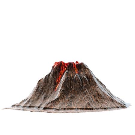 Volcan de lave sans fumée sur le backback isolé. Illustration 3D Banque d'images - 73244789