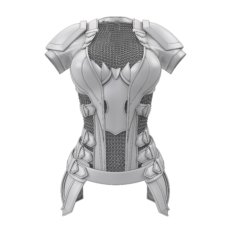 Gray armor stylized for cartoon style on isolated white background. 3d illustration