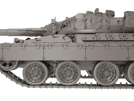 軍のフランス タンク分離白地 AMX 30b2。3 d イラストレーション