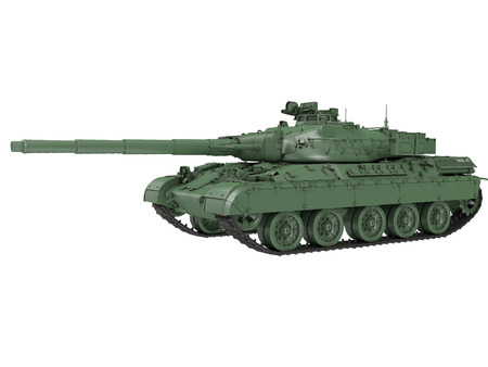 batallón: military French tank AMX 30b2 on an isolated white background. 3d illustration Foto de archivo