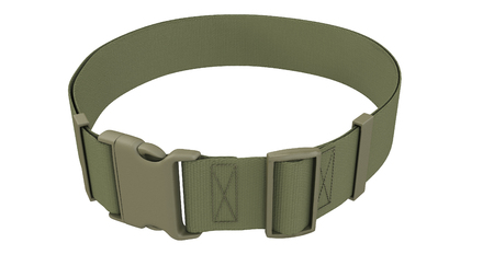 military belt on an isolated white background. 3d illustration