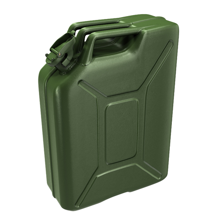 fuel canister green on an isolated background. 3d illustration Banque d'images - 117679810