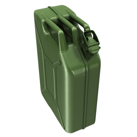 fuel canister green on an isolated background. 3d illustration Banque d'images - 117679811