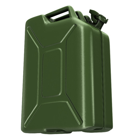 fuel canister green on an isolated background. 3d illustration Banque d'images - 117679813