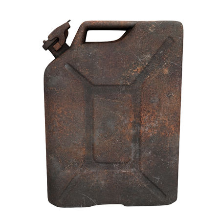 fuel canister rusty on an isolated background. 3d illustration Banque d'images - 117679815